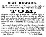 Fugitive slave reward broadside