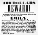 Reward for Emily advertisement