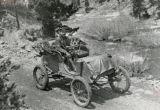 Alexander Winton driving a Winton automobile