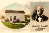 Daniel Emmett and his Mount Vernon home, postcard