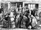 Women pleading with a saloon keeper illustration