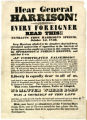 'Hear General Harrison!' broadside