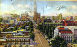 Broad Street, Columbus, Ohio postcard