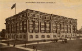 Woodward High School postcard
