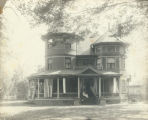 Hopley home decorated for centennial photograph