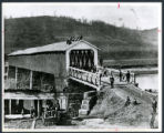 Covered bridge in Lowell photograph