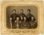 Young men group portrait