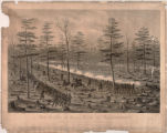 Battle of Stone River or Murfreesboro lithograph