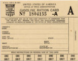 Gasoline Ration Card