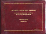 Pro Football Hall of Fame Scrapbook