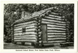 Restored School House, New Salem State Park, Illinois Postcard