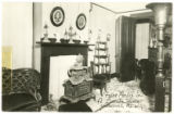 Front Parlor in Abraham Lincoln Home Postcard