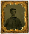 Unidentified Civil War Soldier with Kepi -- Photograph