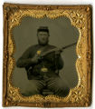 Unidentified Civil War Soldier with Musket -- Photograph