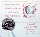 Advertisement for Neil Armstrong Homecoming Banquet