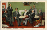 First reading of the Emancipation Proclamation, postcard