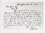 Abraham Lincoln letter to Peter Zinn