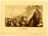 Abraham Lincoln's Gettysburg Address, drawing print