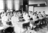 Girls' Industrial School Inmates in Classroom