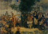 'Signing of the Treaty of Greene Ville' painting
