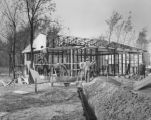 Lustron house under construction