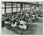 Women at work at the William Shoe Company in Portsmouth, Ohio