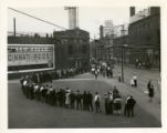 Waiting in line for opening game at Crosley Field