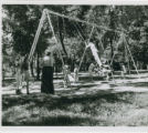 Swing set in the park