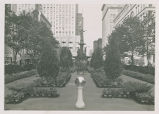 Tyler Davidson Fountain during 1940 Florists Convention