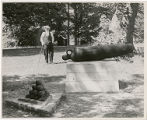 Old man near a cannon