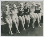 Y.W.C.A. girls at Akron pool