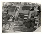 Aerial view of downtown Zanesville