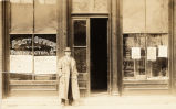 Henry Scatterday in Front of Worthington Post Office Photograph
