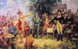 Signing of the Treaty of Green Ville Painting