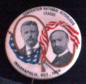 Theodore Roosevelt and Charles Fairbanks Campaign Buttons