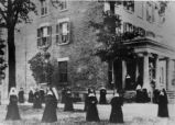 Ursuline Sisters at the Site of First School Photograph