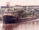 William G. Mather Steamship on the Cuyahoga River Photograph