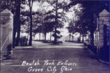 Beulah Park Entrance Photograph