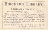 Birchard Public Library Ticket