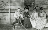 C.W. Savage and Bicycle Photograph
