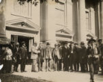 Calvin Coolidge and Local Notables at Otterbein College Photograph