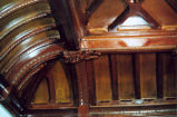 Carved Wood Panel and Ceiling