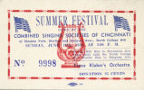 Cincinnati Singing Societies Summer Festival Ticket