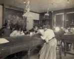 Cleveland School of Art Mechanical Drawing Class Photograph