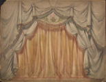 Curtain Design Watercolor