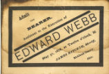 Execution of Edward Webb Documents
