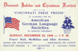 German-American Diamond Jubilee and Christmas Festival Ticket