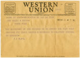 Helen Ervin Telegrams Regarding Her Husband's Status During World War II