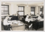 Ohio Match Company Employees in Office Photograph